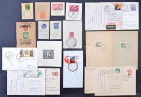 140 db emlék és hirdető bélyegzés emléklapokon , magyar és külföldi leveleken