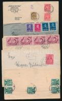 1941-1952 5 db cenzúrázott levél