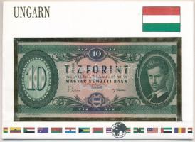1969. 10Ft Világ bankjegyei borítékban német nyelvű ismertetővel T:I