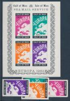 Calf of Man 1965 Európa 4 klf bélyeg + vágott blokk