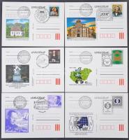 152 db alkalmi díjjegyes levelezőlap közte 89 használatlan és 63 alkalmi bélyegzésű