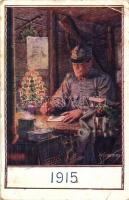 A K.u.K. hadsereg katonája 1915 karácsonyán, Ferenc József / WWI Soldier of the Austro-Hungarian Army in Christmas 1915, Franz Joseph s: Kuderna (kis szakadás / small tear)