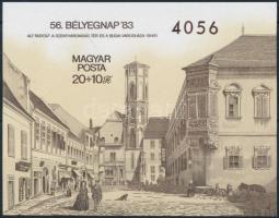 1983 Bélyegnap (56.) vágott blokk (4.000)