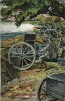 Westl. Kriegsschauplatz, Artillerie Im Feuer / WWI K.u.K. military, western front, artillery troops in combat, L. & P. 1846. (EK)