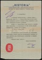 1948 Bp., A Historia Centenáriumi Emlékszolgálat által kiadott centenáriumi levélzáró fejléces levélen
