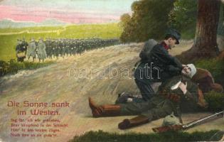 Die Sonne sank im Westen..., volkslied / WWI K.u.K. military, injured soldier, folk song, C. G. L. 902/IV (EK)