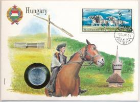 1973. 1Ft Al borítékban Pusztai ötös bélyeggel, hátlapján ENSZ bélyegekkel T:1