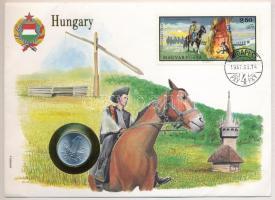 1973. 1Ft Al borítékban Este a cserénynél bélyeggel, hátlapján ENSZ bélyegekkel T:1