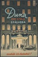 cca 1946-1948 A Duna(Bristol) Szálloda litho kisplakátja, 24x17 cm
