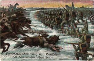 Entscheidender Sieg der Deutschen bei den masurischen Seen / WWI Battle of the Masurian Lakes, the decisive victory of the German Army over the Russians, L. & P. 1659. (EK)