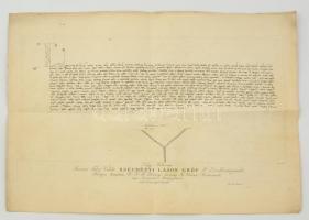 1833 Melléklet a Tudományos Gyűjtemény 17. évfolyamából, 38x53 cm
