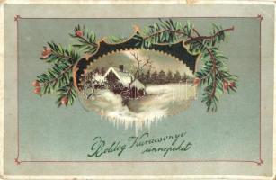 Boldog Karácsonyi Ünnepeket! / Christmas greeting card, HWB Ser. 4331., litho (EK)