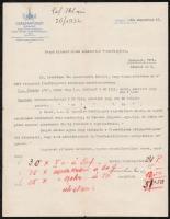 1933 Bp., A Császárfürdő díszes fejléces levélpapírjára írt levél a jegyárusítással kapcsolatban
