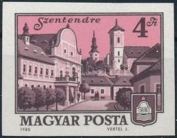 1980 Tájas-városok (VIII.) vágott bélyeg (4.000)