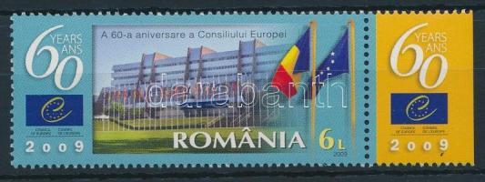 2009 60 éves az Europa Tanács szelvényes bélyeg Mi 6359