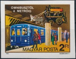 1982 Omnibusztól a metróig vágott bélyeg (3.000)