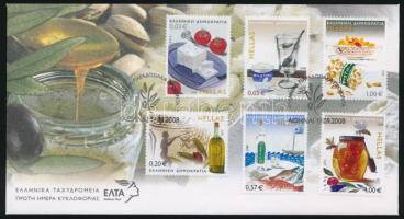2008 Hagyományos görög élelmiszerek sor Mi 2476-2481 FDC