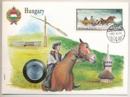 1973. 1Ft Al borítékban Szán bélyeggel, hátlapján ENSZ bélyegekkel T:1