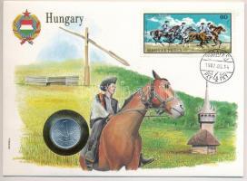 1973. 1Ft Al borítékban Csikós verseny bélyeggel, hátlapján ENSZ bélyegekkel T:1