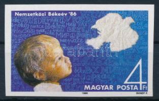 1986 Nemzetközi Békeév vágott szelvényes bélyeg (4.000)