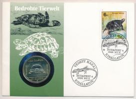 1985. 100Ft alpakka Természetvédelem - Mocsári Teknős felbélyegzett borítékban T:BU