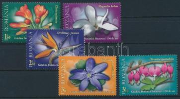 2010 150 éves a Bukaresti Botanikus kert sor Mi 6452-6456