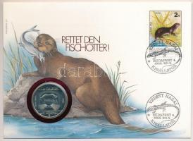 1985. 100Ft alpakka Természetvédelem - Vidra felbélyegzett borítékban T:BU