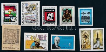 1987 9 klf vágott bélyeg (12.100)