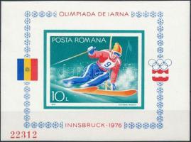 1976 Téli olimpia, Innsbruck vágott blokk Mi 129