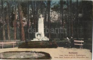 Budapest XIII. Margitsziget, Arany János szobor, N. M. Bp. (EK)