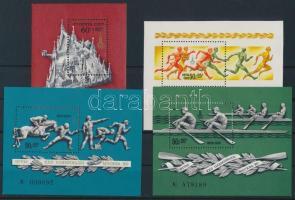 1976-1980 4 klf Olimpia blokk Mi 117, 121, 127, 144