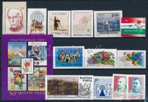 1989 13 klf vágott bélyeg + 1 blokk (22.500)