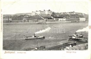 Budapest, Királyi várpalota, gőzhajók, G. Rüger & Co. (EK)