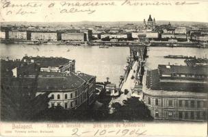 Budapest, kilátás a Lánchídra, Taussig Arthur kiadása