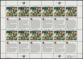 1989 Emberi jogok nyilatkozata kisív sor Mi 595-596