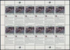 1991 Emberi jogok nyilatkozata kisív sor Mi 623-624