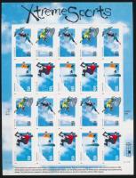 1999 Extrém sportok fóliaív Mi 3144-3147