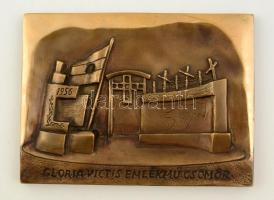 Víg János (?-): Gloria-victis emlékmű Csömör. Bronz falikép, jelzés nélkül, 18×25 cm