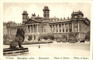 Budapest V. Igazságügyi Palota, villamos, automobil (EK)