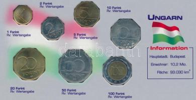 1995-2005. 1Ft-100Ft (7xklf) forgalmi sor vágott kartonlapon T:1-,2