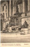 Budapest I. Királyi várpalota, Mátyás király és a kútcsoporzat, Divald Károly kiadása
