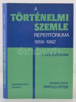 A Történelmi Szemle repertóriuma 1958-1982. I-XXV. évfolyam. Összeállította Dippold Péter. Bp., 1988, Akadémia Kiadó. Kiadói egészvászon kötés, kiadói papírborítóban.