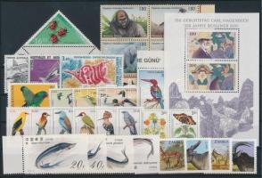 1992-1994 Állat motívum 28 db bélyeg, közte teljes sorok és ívszéli értékek, összefüggések + blokk