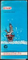 1973 Dunakömlőd, A Halászcsárda étlapja