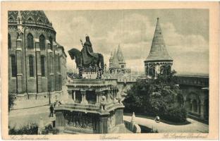 Budapest I. Királyi vár, Szent István szobor, Halászbástya (EK)