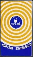 1972 Bp. Móricz Zsigmond körtér, A Körtéri Presszó étlapja