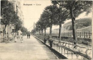 Budapest V. Duna corso, korzó, N. M. Bp. (EK)