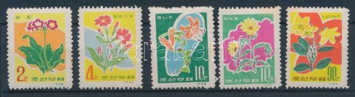 1966 Virág sor Mi 676-680 (rozsda / stain)