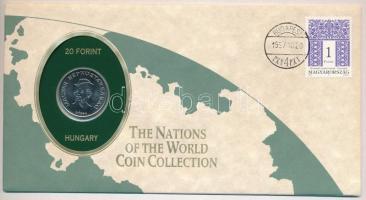 1985. 20Ft felbélyegzett The Nations of the World Coin Collection borítékban T:1