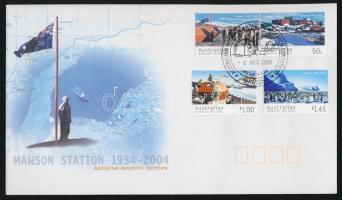 2004 Mawson sarkkutató állomás sor Mi 157-160 FDC